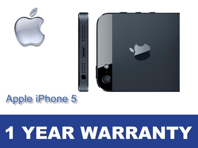 refurbished apple iphone 5 32gb black slate. Black Bedroom Furniture Sets. Home Design Ideas
