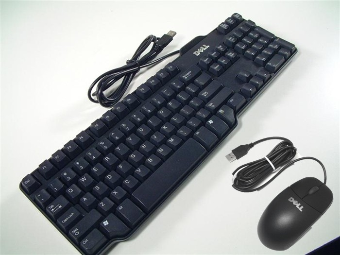 new dell usb wired keyboard mouse. Black Bedroom Furniture Sets. Home Design Ideas