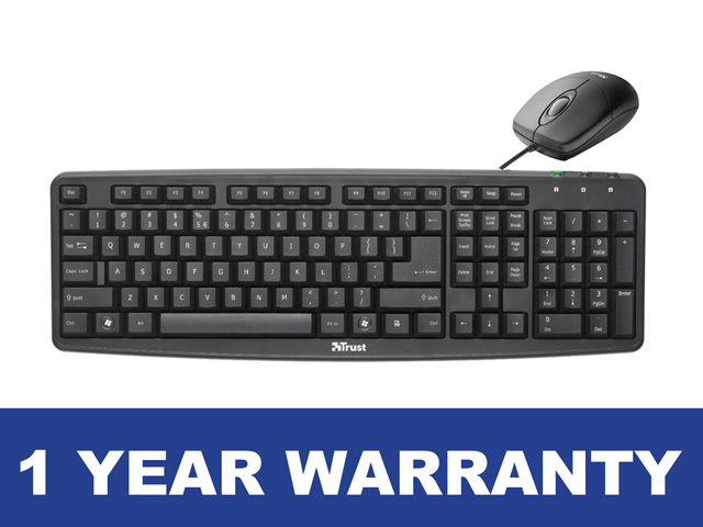 CIT Wired Keyboard & Mouse NEW KBMS-001