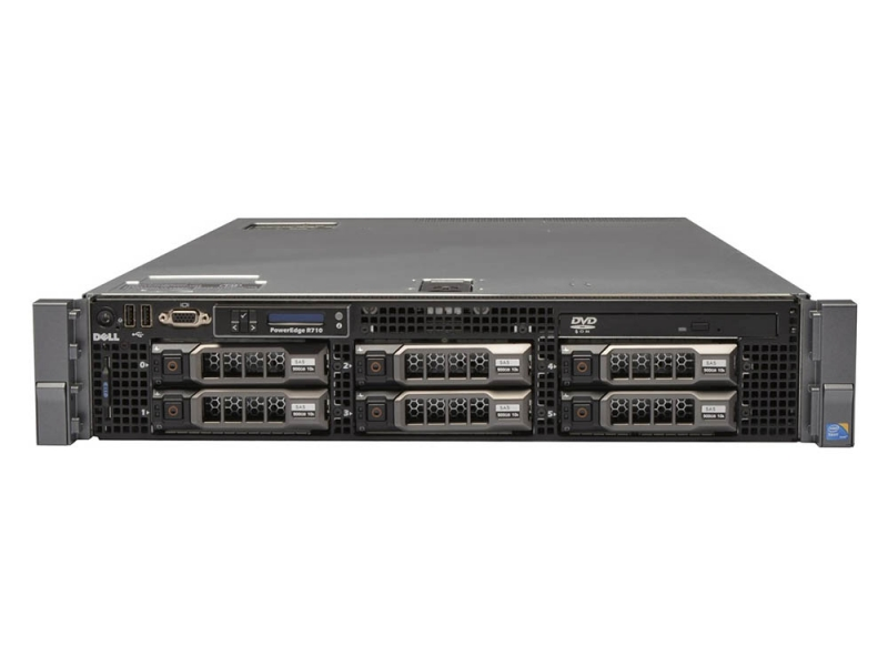 Dell Poweredge R710 Rack Server 2 x Xeon Quad Core 2 4GHz 32GB RAM PERC 6i  RAID VMware